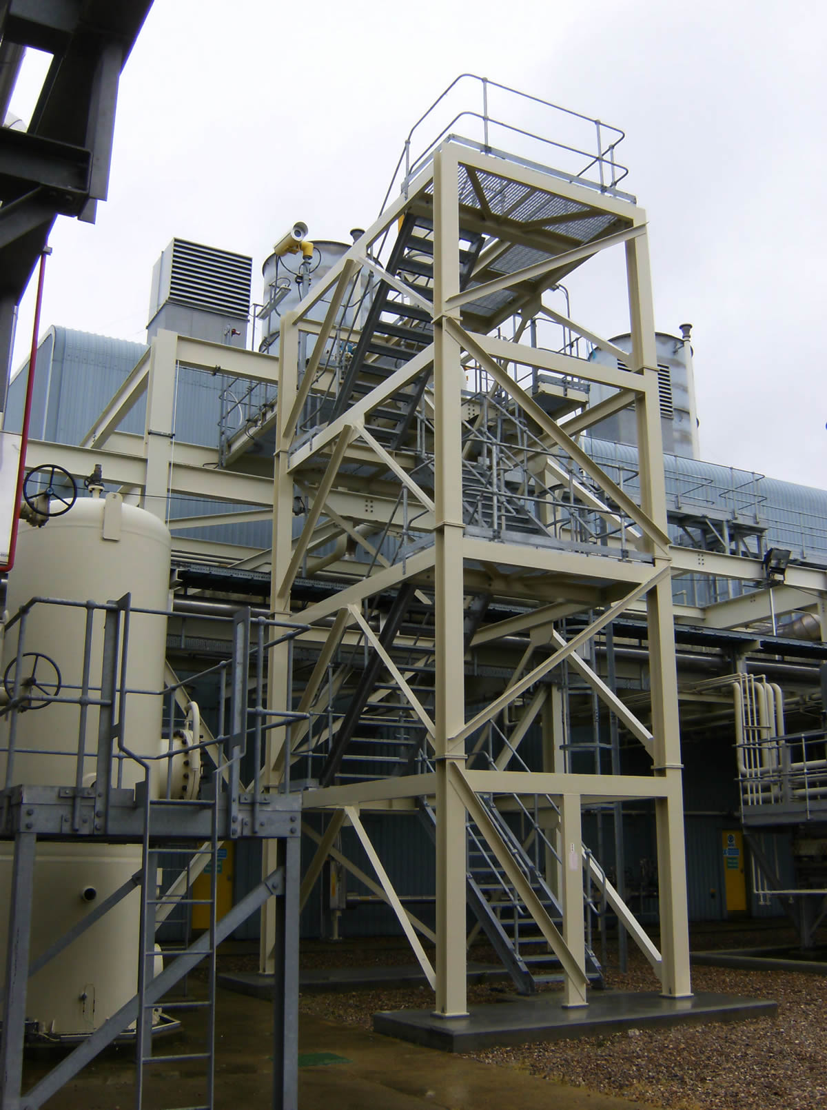 high level walkways stair tower training course great